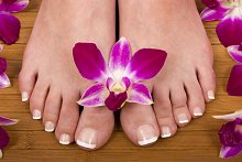 About Ruth Stainsby. Library Image: Feet with Flower